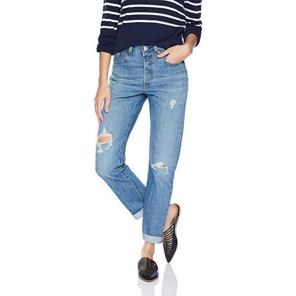 Levi's Denim - NWT Levi's 501 High Waist wedgie fit Light Jeans